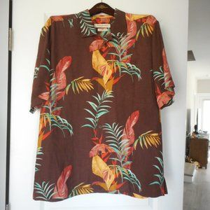 Tommy Bahama Men's Large Camp Shirt, The Frond-Tier, NWT